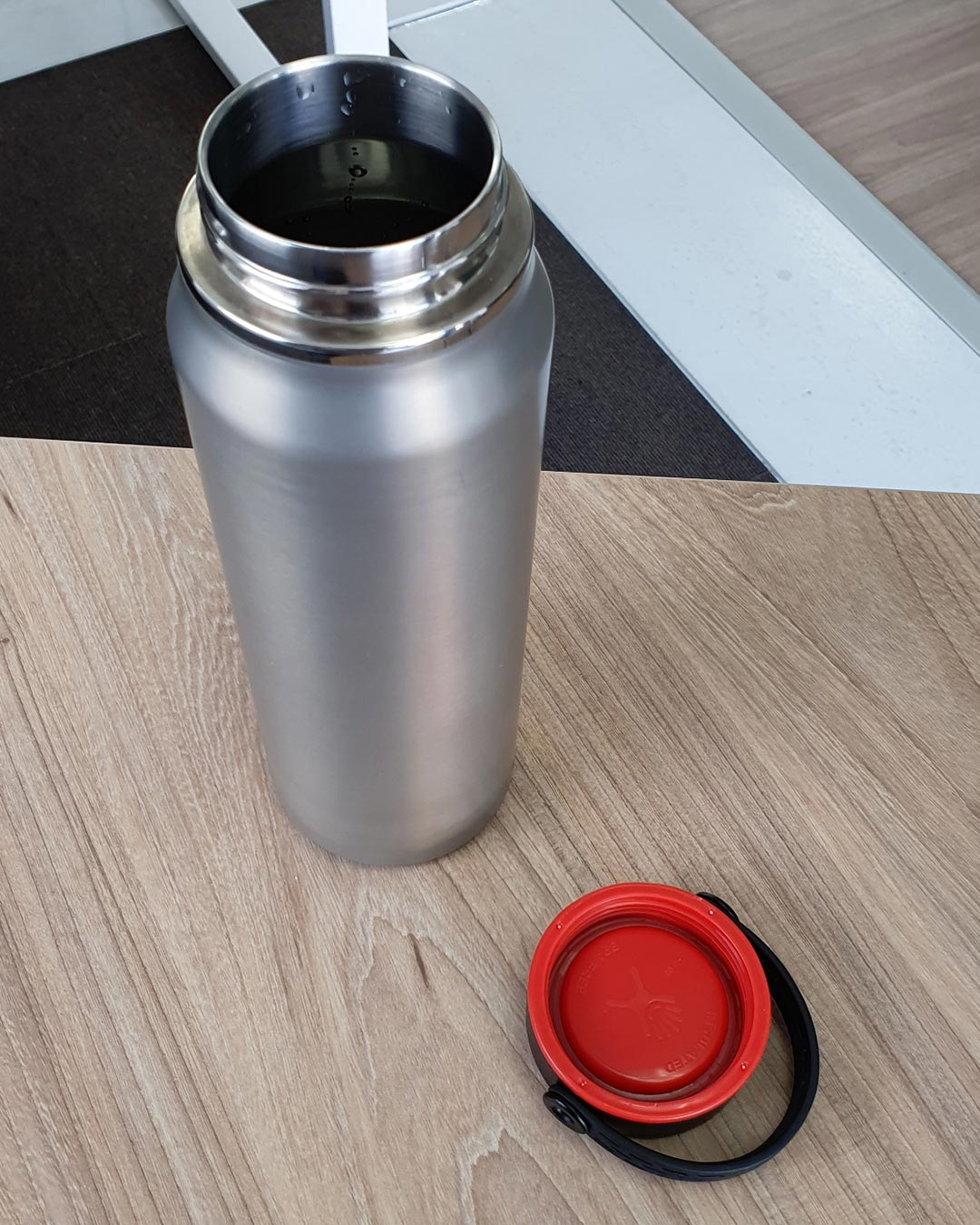 A light weight water bottle for hikers