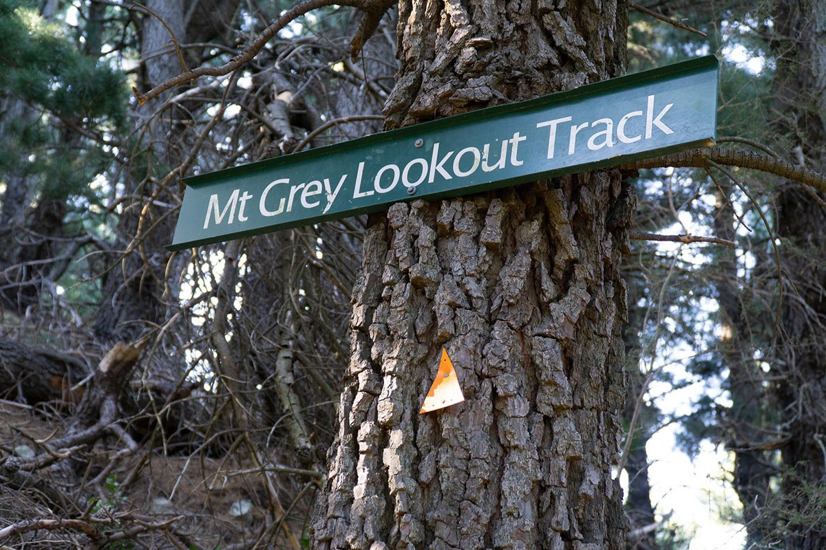 Mt Grey Lookout Track Sign