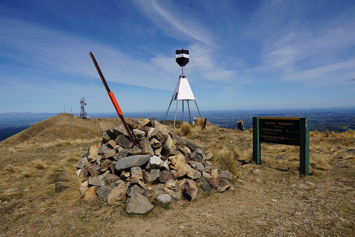 Trig Point at Mt Grey Summit